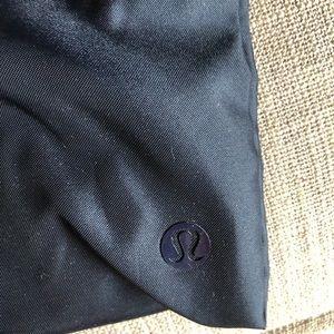 "lululemon athletica Bags - Brand new Lululemon navy blue drawstring 14"" pouch"